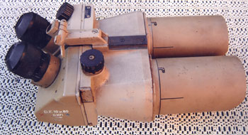 German WWII Angled binocular - Before repair